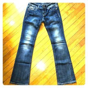 EUC Miss Me Boot Cut Rhinestone Jeans